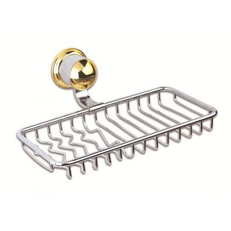 Goldena Chrome Bathtub Net Soap Dish