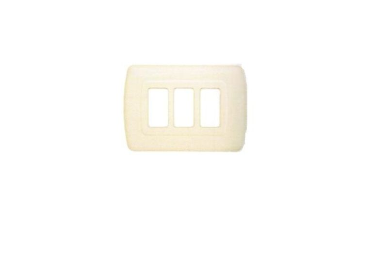 Magic Advance Ivory Cover Plate Three Modules