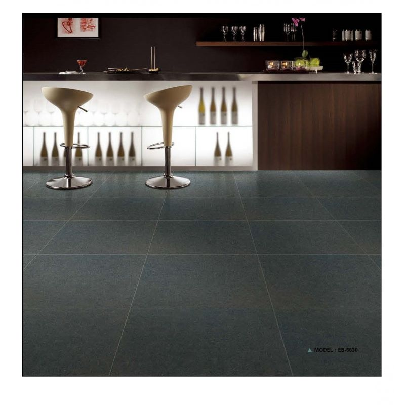 Black galaxy floor tiles