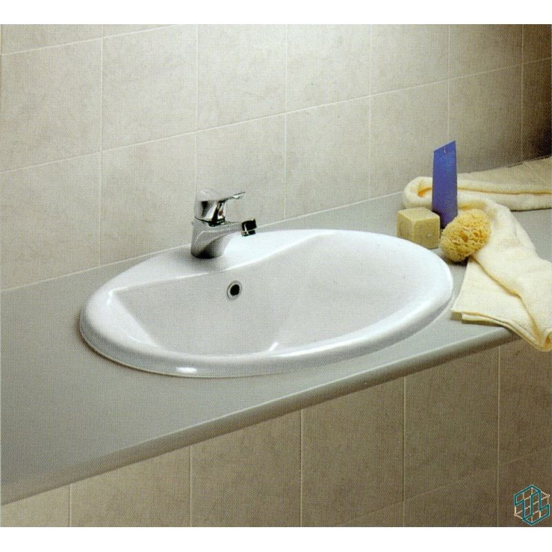 Sanitary ware diagonal single hole counter top lava basin for Diagonal ideal standard